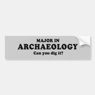 MAJOOR IN ARCHEOLOGIE - KUNT U de T-shirt van IT G Bumpersticker
