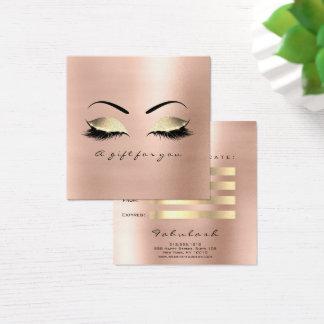 Make-up Glam van de Zwepen van het Certificaat van Vierkante Visitekaartjes