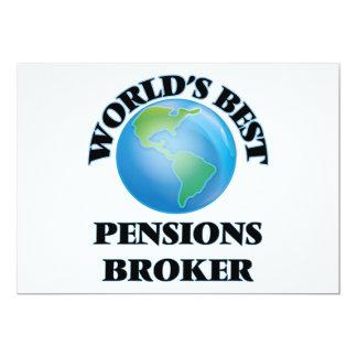 Makelaar van de Pensioenen van de wereld de Beste 12,7x17,8 Uitnodiging Kaart
