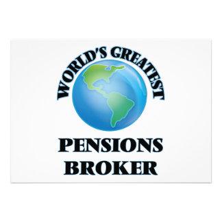 Makelaar van de Pensioenen van de wereld de Persoonlijke Uitnodigingen