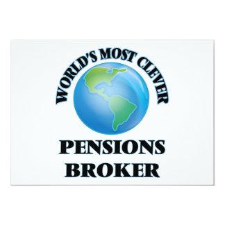 Makelaar van de Pensioenen van de wereld de 12,7x17,8 Uitnodiging Kaart