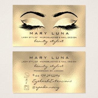 Makeup Eyebrows Lashes SPA WELLNESS Gouden Glas Visitekaartjes