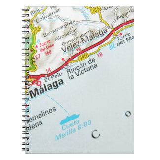 Malaga, Spanje Ringband Notitieboek