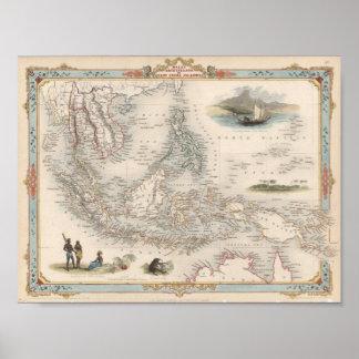Maleise Archipel, of Eilanden de Oost- van India Poster