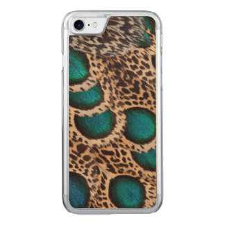 Maleise pauw-Fazant veren Carved iPhone 8/7 Hoesje