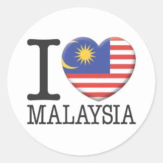 Maleisië Ronde Sticker