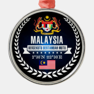 Maleisië Zilverkleurig Rond Ornament