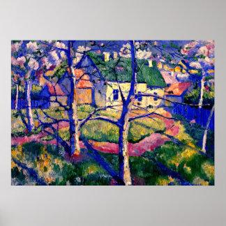 Malevich - de Bomen van Apple in Bloesem Poster