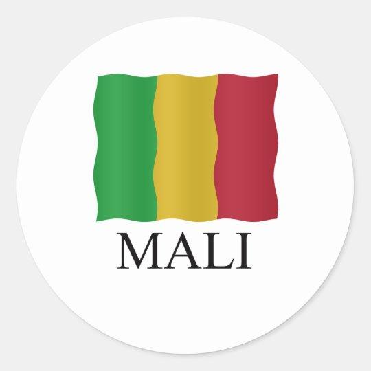 Mali flag ronde sticker