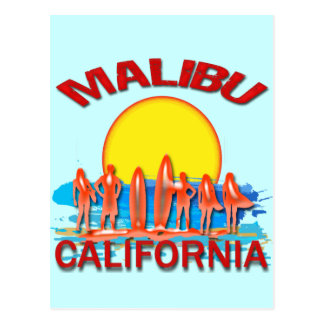 MALIBU STRAND CALIFORNIË BRIEFKAART