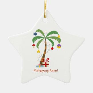 Maligayang Pasko! Het Ornament van de kerstboom