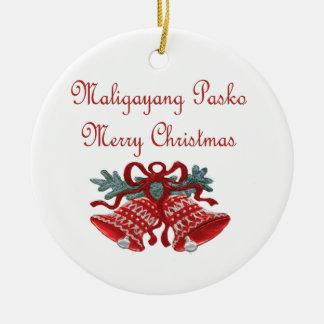 Maligayang Pasko Rond Keramisch Ornament