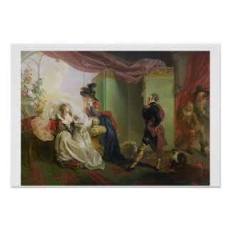 "Malvolio vóór Olivia, van ""Twaalfde Nacht"" door Wi Poster"