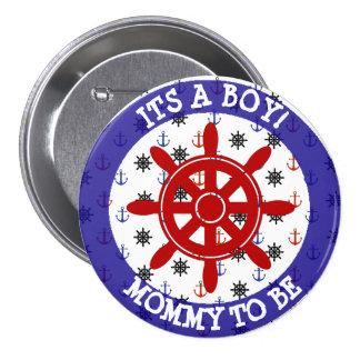 Mama om te zijn, de Zeevaartknoop van het Baby Ronde Button 7,6 Cm