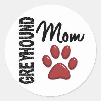 Mamma 2 van de windhond ronde sticker