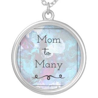 Mamma aan velen zilver vergulden ketting