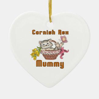 Mamma het van Cornwall van de Kat Rex Keramisch Hart Ornament
