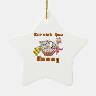 Mamma het van Cornwall van de Kat Rex Keramisch Ster Ornament