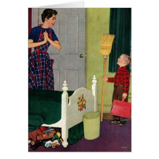 Mamma, maakte ik Mijn Zaal schoon! Briefkaarten 0