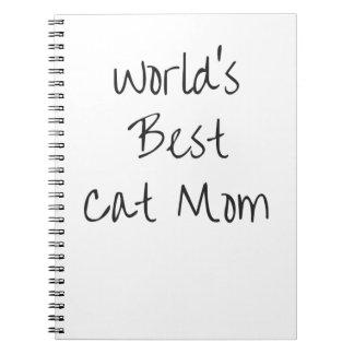 Mamma van de Kat van de wereld het Beste - Zwarte Ringband Notitieboek