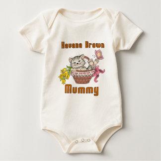 Mamma van de Kat van Havana het Bruine Baby Shirt