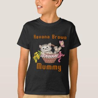 Mamma van de Kat van Havana het Bruine T Shirt