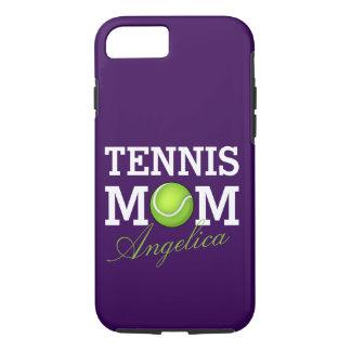 Mamma van het tennis personaliseerde Paars iPhone 8/7 Hoesje