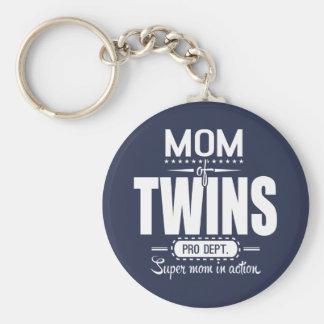 Mamma van Super Mamma van de Dienst van Tweelingen Sleutelhanger