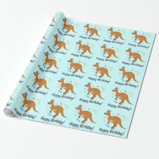 Mamma's en de Kangoeroes van het Baby met de Inpakpapier
