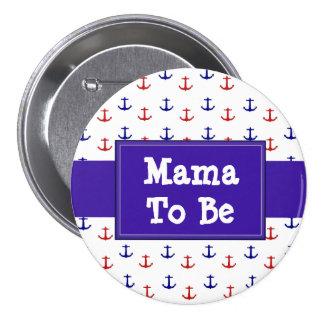 Mamma's om de Rode en Blauwe Knoop van het Baby Ronde Button 7,6 Cm