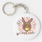 Mammy Round Rabbit-Cutest mom award-keychains Sleutelhanger
