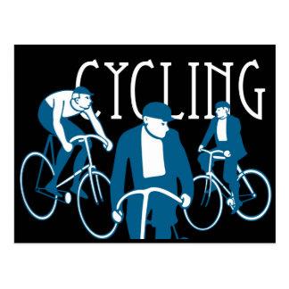Man Bicycling Briefkaart