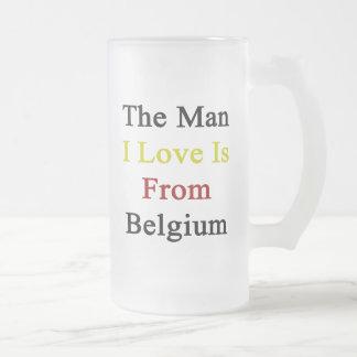 Man I Liefde is van België Matglas Bierpul
