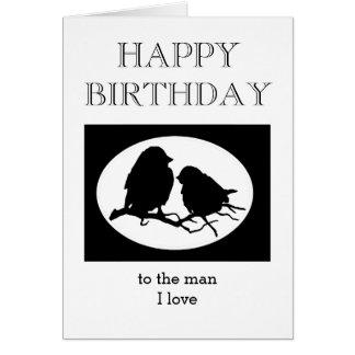 Man I van het Liefje van de Verjaardag van de Briefkaarten 0