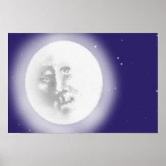 Man in de Maan Poster