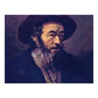 Man met een Baard Door Aanhanger van Rembrandt Aankondiging