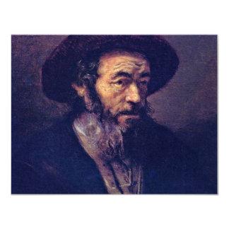Man met een Baard. Door Aanhanger van Rembrandt Aankondiging