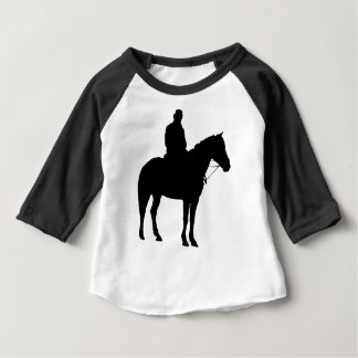 Man op Horseback Silhouet Baby T Shirts