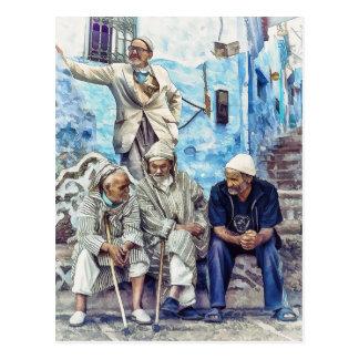 Man van Marokko - Reis de Noord- van Afrika Briefkaart