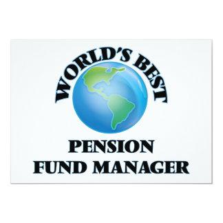 Manager van het Fonds van het Pensioen van de 12,7x17,8 Uitnodiging Kaart