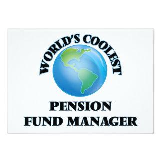 Manager van het Fonds van het Pensioen van de Custom Uitnodigingen