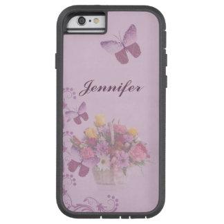 Mand van Bloemen en Vlinders, Naam Tough Xtreme iPhone 6 Hoesje