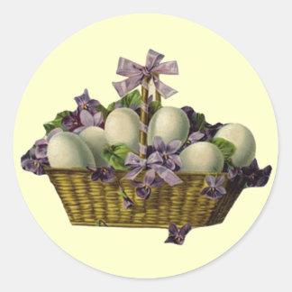 Mand van Eieren & Viooltjes Ronde Sticker