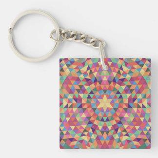 Mandala 1 van de driehoek sleutelhanger