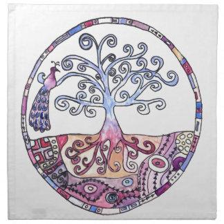 Mandala - Boom van het Leven in Paradijs Servet