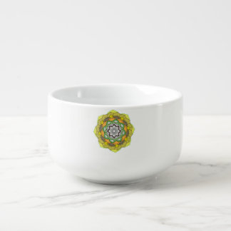 Mandala decoratief element van kleuren soepkom