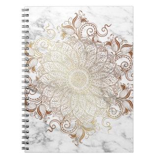 Mandala - Goud & Marmer Notitieboek