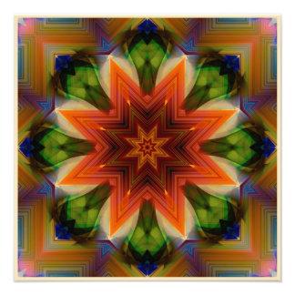 Mandala in de Kleuren van de Roest Foto Print