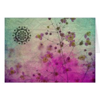 Mandala Wildflower Lege Notecard Briefkaarten 0