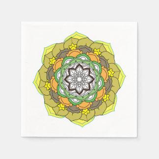 mandala zwart-witte vectorillustratie wegwerp servet